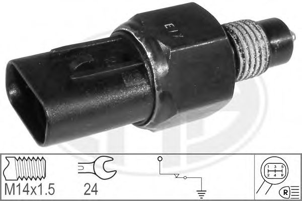 Выключатель, фара заднего хода (пр-во ERA)                                                            арт. 330569