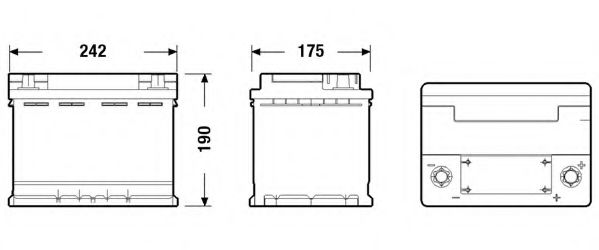 АКБ Exide AGM 60Ah/680A (-/+) 242x175x190  в интернет магазине www.partlider.com