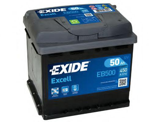 Аккумулятор   50Ah-12v Exide EXCELL(207х175х190),R,EN450                                              арт. EB500
