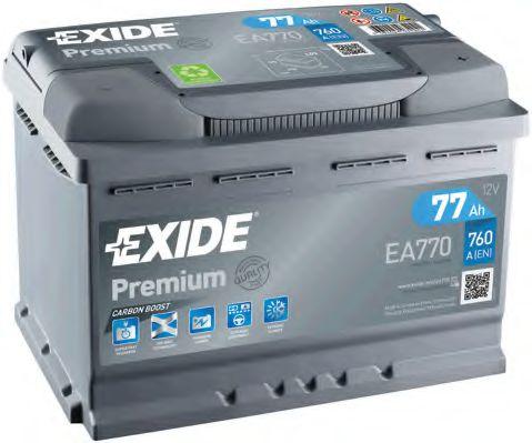 Аккумулятор   77Ah-12v Exide PREMIUM(278х175х190),R,EN760                                             арт. EA770
