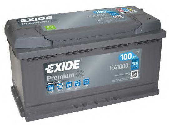 Аккумуляторная батарея 100Ah/900A (353x175x190) Premium  арт. EA1000