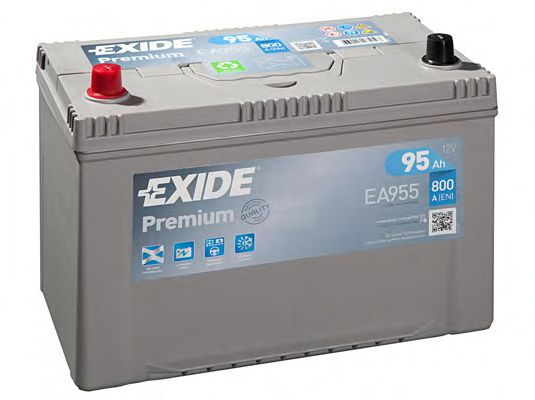 Аккумуляторная батарея 95Ah/800A (306x173x222) Premium (прямая полярность +L) Азия  арт. EA955
