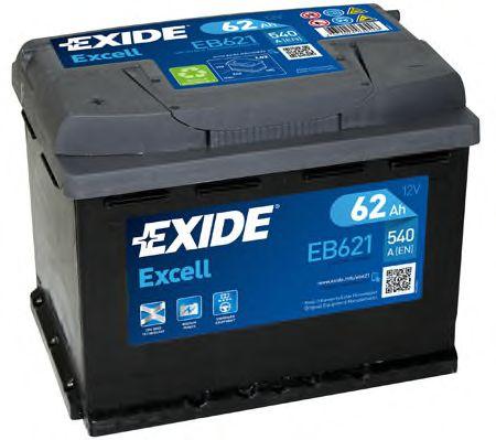 Аккумулятор   62Ah-12v Exide EXCELL(242х175х190),L,EN540