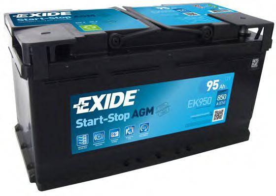 Аккумуляторная батарея 95Ah/850A (353x175x190) (Start-Stop AGM)  арт. EK950