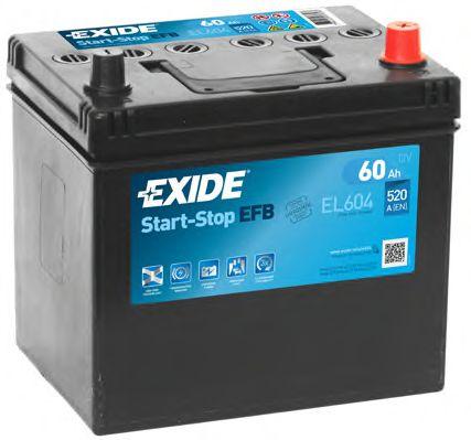 Аккумулятор   60Ah-12v Exide START-STOP EFB (230х173х222),R,EN520                                     арт. EL604