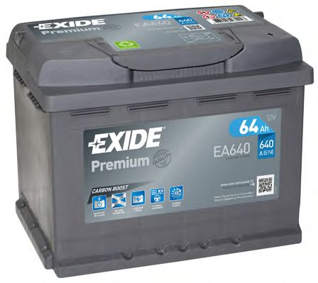 Аккумулятор   64Ah-12v Exide PREMIUM(242х175х190),R,EN640                                             арт. EA640