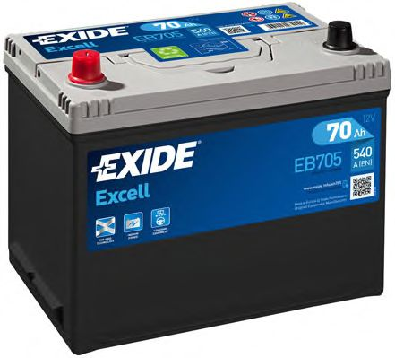 Аккумулятор   70Ah-12v Exide EXCELL(266х172х223),L,EN540                                              арт. EB705