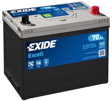 Аккумулятор   70Ah-12v Exide EXCELL(266х172х223),R,EN540                                              арт. EB704