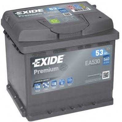 Аккумулятор   53Ah-12v Exide PREMIUM(207х175х190),R,EN540                                             арт. EA530