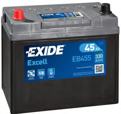Аккумулятор   45Ah-12v Exide EXCELL(234х127х220),L,EN330 Азия тонк.клеммы                             арт. EB455