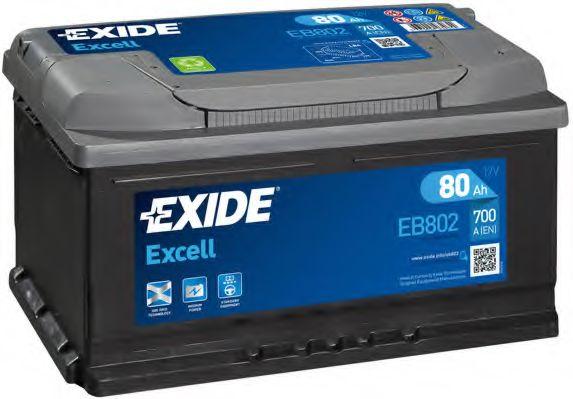 Аккумулятор   80Ah-12v Exide EXCELL(315х175х175),R,EN700                                              арт. EB802