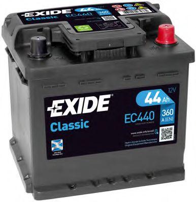 Аккумулятор   44Ah-12v Exide CLASSIC(207х175х190),R,EN360