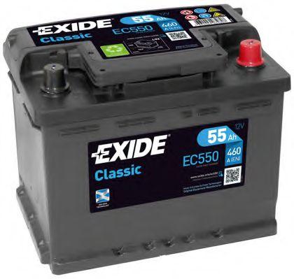 Аккумулятор   55Ah-12v Exide CLASSIC(242х175х190),R,EN460                                             арт. EC550