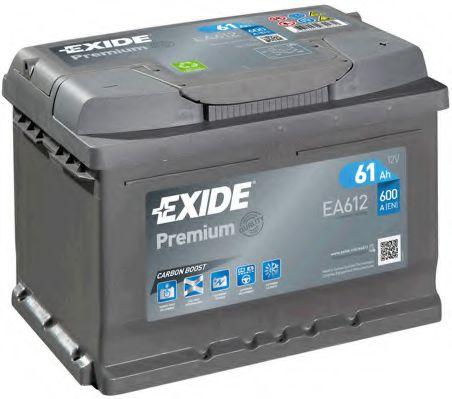 Аккумуляторная батарея 61Ah/600A (242x175x175) Premium  арт. EA612
