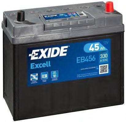 Аккумулятор   45Ah-12v Exide EXCELL(234х127х220),R,EN300 Азия тонк.клеммы !КАТ. -10%                  арт. EB456