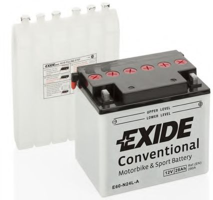 Аккумулятор   28Ah-12v Exide (E60-N24L-A) (184х124х169) R, EN280