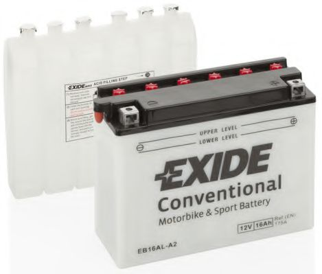 Аккумулятор   16Ah-12v Exide (EB16AL-A2) (205х70х162) R, EN175