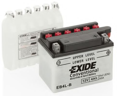 Аккумуляторы Аккумулятор    4Ah-12v Exide (EB4L-B) (120х70х92) R, EN50                                             арт. EB4LB