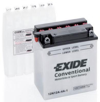 Аккумуляторы Стартерная аккумуляторная батарея EXIDE арт. 12N12A4A1