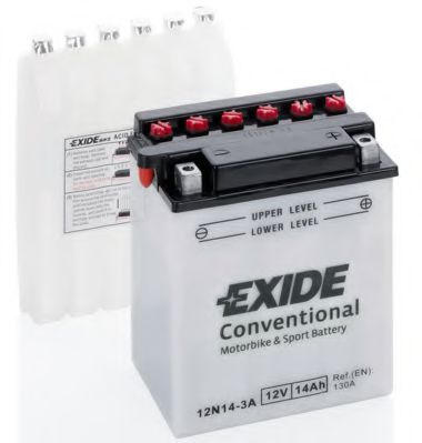 Аккумуляторы Аккумулятор   14Ah-12v Exide (12N14-3A) (134х89х166) R, EN130                                         арт. 12N143A