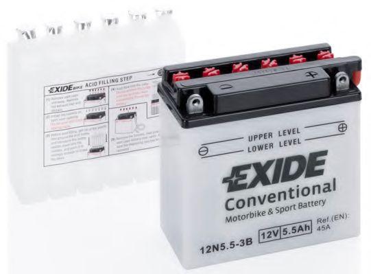 Аккумуляторы Стартерная аккумуляторная батарея EXIDE арт. 12N553B