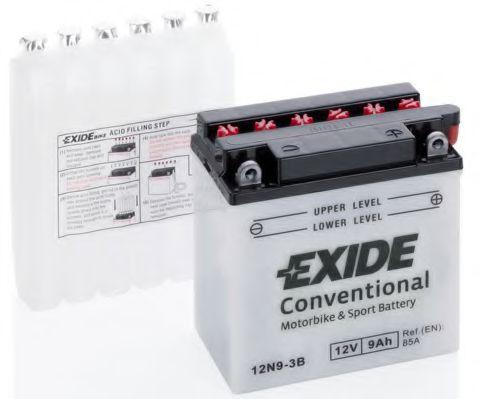 Аккумуляторы Аккумулятор    9Ah-12v Exide (12N9-3B) (135х75х139) R, EN85                                           арт. 12N93B