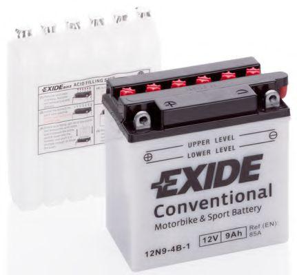 Аккумуляторы Аккумулятор    9Ah-12v Exide (12N9-4B-1) (135х75х139) L, EN85                                         арт. 12N94B1
