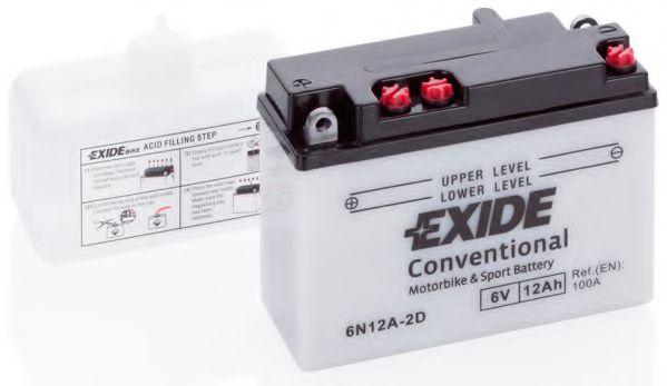 Аккумуляторы Стартерная аккумуляторная батарея EXIDE арт. 6N12A2D