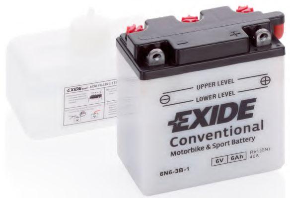 Аккумуляторы Стартерная аккумуляторная батарея EXIDE арт. 6N63B1