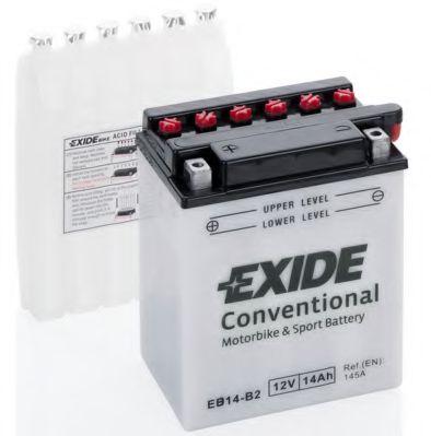 Аккумуляторы Аккумулятор   14Ah-12v Exide (EB14-B2) (134х89х166) L, EN145                                          арт. EB14B2