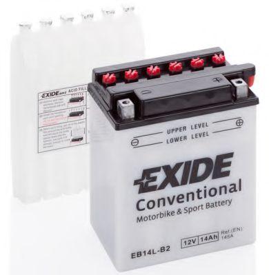 Аккумуляторы Аккумулятор   14Ah-12v Exide (EB14L-B2) (134х89х166) R, EN145                                         арт. EB14LB2