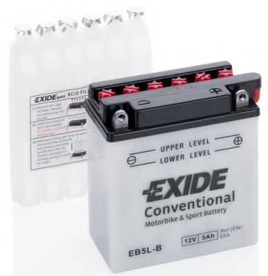 Аккумуляторы Аккумулятор    5Ah-12v Exide (EB5L-B) (120х60х130) R, EN65                                            арт. EB5LB