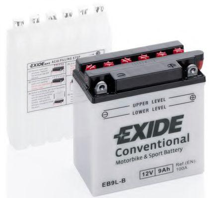 Аккумуляторы Аккумулятор    9Ah-12v Exide (EB9L-B) (135х75х139) R, EN100                                           арт. EB9LB