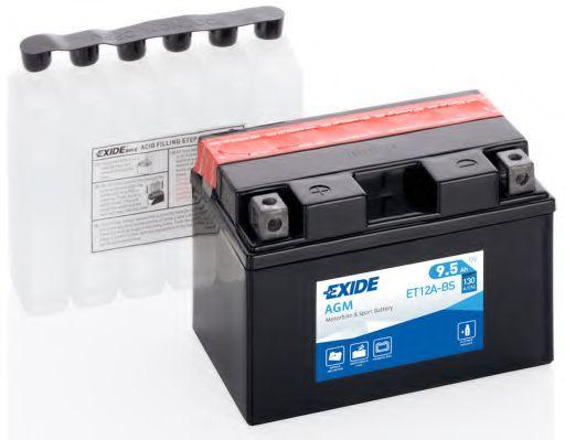 Аккумуляторы Аккумулятор    9,5Ah-12v Exide AGM (ET12A-BS) (150х87х105) L, EN130                                  EXIDE арт. ET12ABS