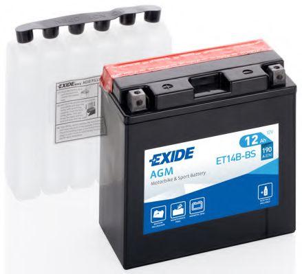 Аккумулятор   12Ah-12v Exide AGM (ET14B-BS) (150х70х145) L, EN190