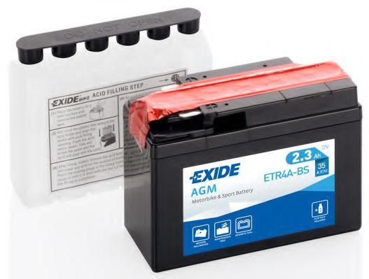 Аккумуляторы Аккумулятор    2,3Ah-12v Exide AGM (ETR4A-BS) (113х48х85) R, EN35                                    EXIDE арт. ETR4ABS