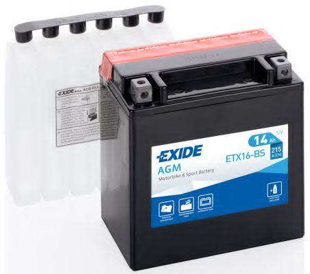 Аккумулятор   14Ah-12v Exide (ETX16-BS) (150х87х161) L, EN215