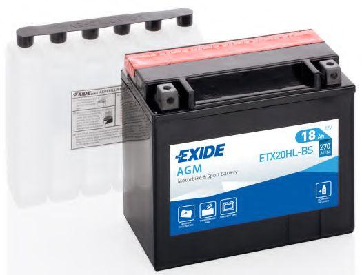 Аккумулятор   18Ah-12v Exide AGM (ETX20HL-BS) (175х87х155) R, EN270