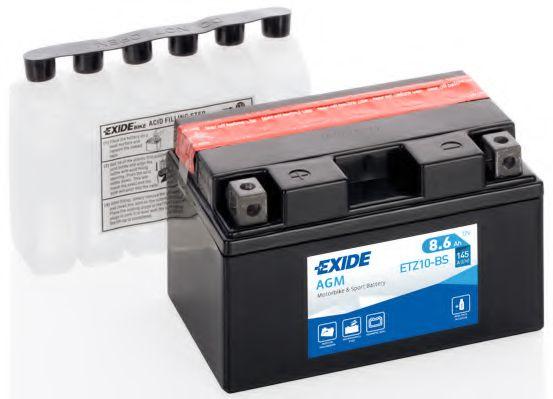 Аккумулятор    8,6Ah-12v Exide AGM (ETZ10-BS) (150х87х93) L, EN145