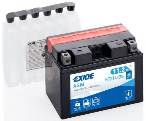 Аккумуляторы Аккумулятор   11,2Ah-12v Exide AGM (ETZ14-BS) (150х87х110) L, EN205                                   арт. ETZ14BS