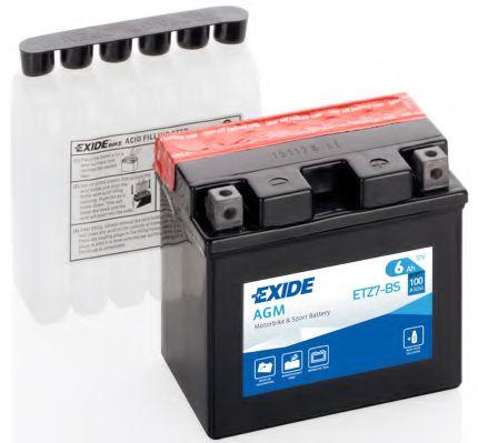 Аккумуляторы Аккумулятор    6Ah-12v Exide AGM (ETZ7-BS) (113х70х105) R, EN100                                      арт. ETZ7BS