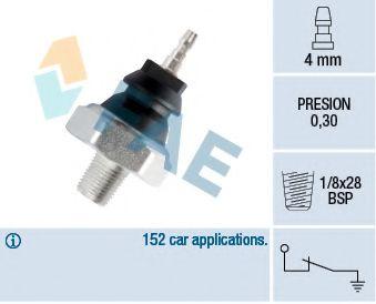 Электроника двигателя Датчик давления масла Opel Combo 1.7D/Nissan Vanette/Nomad 1.5 83- FAE арт. 12230