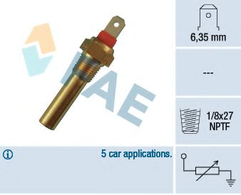 Температурный датчик охлаждающей жидкости  арт. 31640
