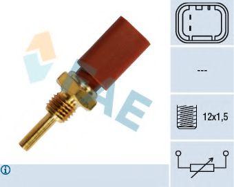 Температурный датчик охлаждающей жидкости, Датчик, температура охлаждающей жидкости  арт. 33710