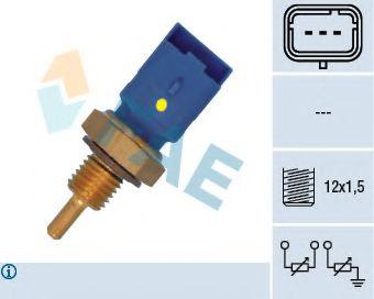 Датчик температуры охлаждающей жидкости Citroen Berlingo/Jumper 1.1/2.0HDi 00- (3 конт.) (M12x1.5)  арт. 33795