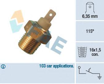 термовыключатель, сигнальная лампа охлаждающей жидкости  арт. 35070