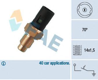 Датчик включения вентилятора термовыключатель, сигнальная лампа охлаждающей жидкости FAE арт. 35390
