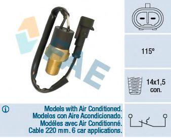 термовыключатель, сигнальная лампа охлаждающей жидкости  арт. 35841