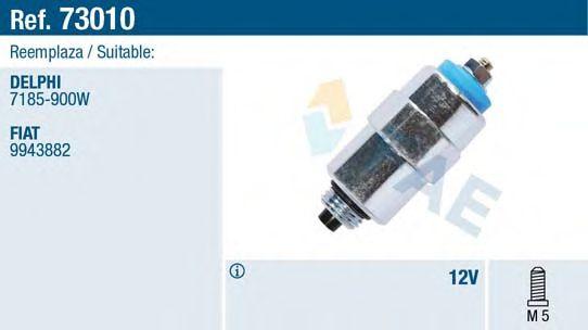 Электромагнитный клапан ТНВД Электромагнитный клапан ТНВД Renault Trafic 2.1D 86-00/Citroen Berlingo 1.8/1.9D 96-  FAE арт. 73010