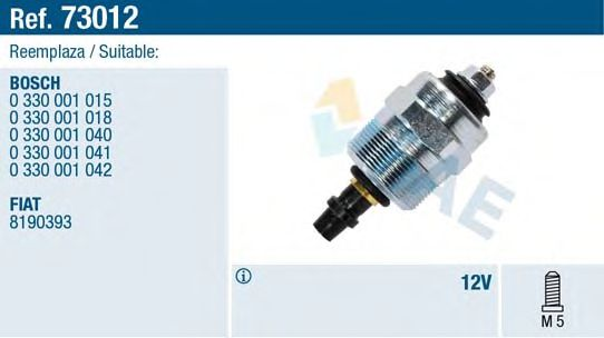 Электромагнитный клапан ТНВД Клапан электромагнитный ТНВД VW LT/T3/T4 -03/Ford Transit 2.5D 83-00 FAE арт. 73012